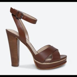 Aldo Brown Norell Faux Leather Heels